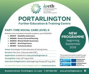 NEW Part-Time Social Care Course