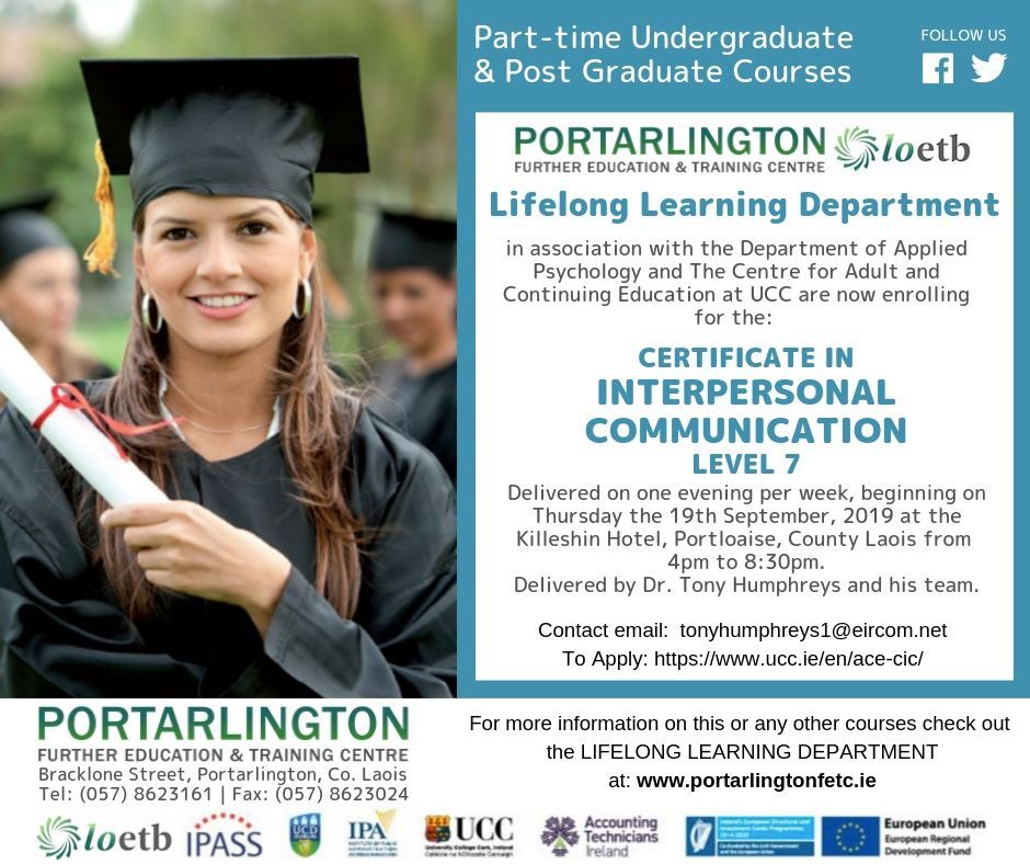 Certificate in Interpersonal Communication Level 7 – Places Still Available!!!