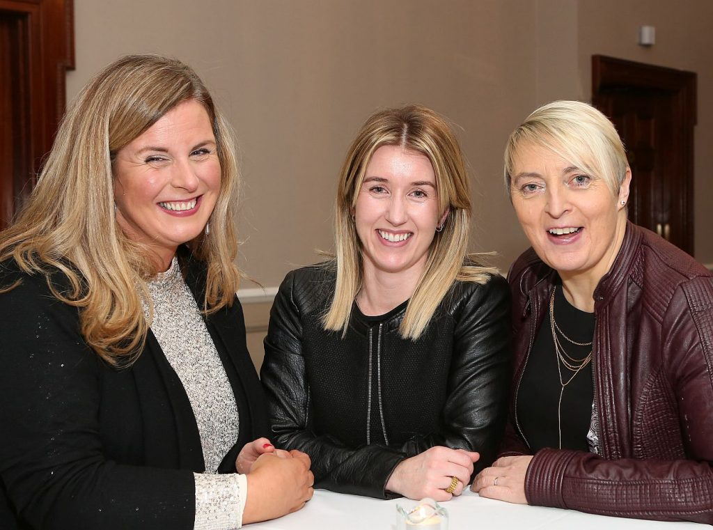 Portarlington Further Education Centre Awards - Jennie Emerson, Laura Booth and Ber Mc Sweeney . Photo: Michael Scully.